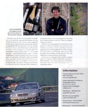 メルセデス社会報誌に掲載されたアンドレ・クルエ シルバー・ブリュット