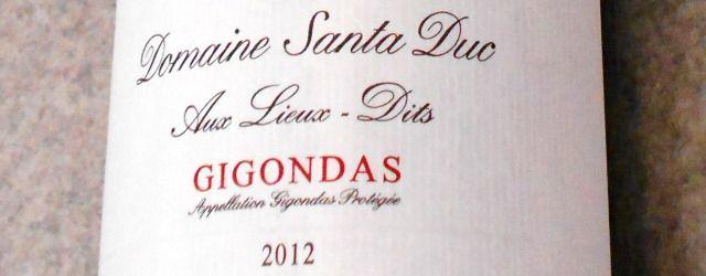 ドメーヌ・サンタ・デュック ジゴンダス・オー・リュー・ディ2012