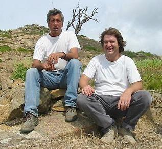 栽培責任者のビアッジョ氏とビービー・グラーツ氏