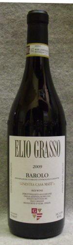 エリオ・グラッソ バローロ・ジネストラ・ヴィーニャ・カサ・マテ2009