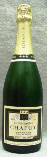 シャンパーニュ・シャピュイ カルト・ヴェルト・ブリュット・レゼルヴ ブラン・ド・ブラン・ミレジム2005