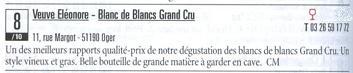 ヴーヴ・エレオノール ブラン・ド・ブラン グラン・クリュ