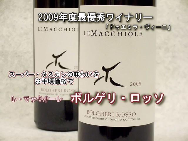 レ・マッキオーレ ボルゲリ・ロッソ2009