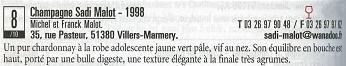 プティ・プリ誌2006掲載のサディ・マロ