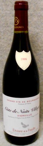 ドメーヌ・ド・ラ・プレット コート・ド・ニュイ・ヴィラージュ ヴィエルヴィル1999
