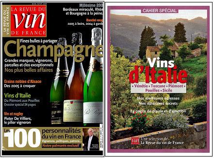 フランスの人気ワイン雑誌「ラ・レヴュー・デュ・ヴァン・ド・フランス(RVF)」