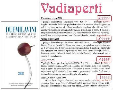 ヴァディアペルティの掲載されたドゥエミラヴィーニ2008年度版