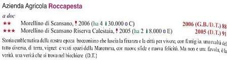 イタリア・ワインガイドの権威ヴェロネッリ誌より高評価